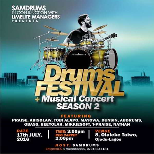 News: SamDrums & Limelite Events Presents Drums Festival & Musical Concert Season 2