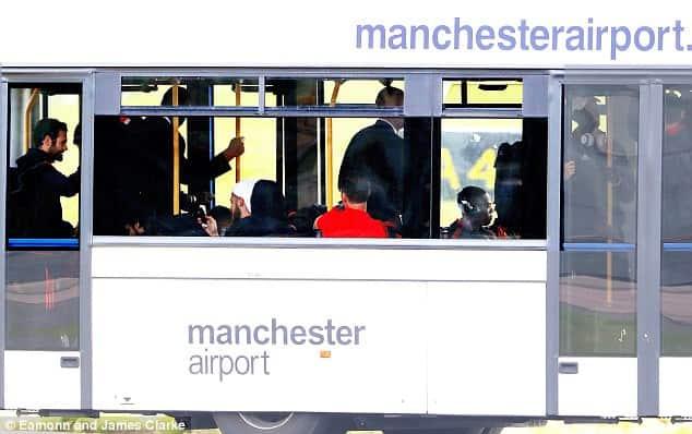 Super Cup - United's stars Relax on the bus before en route Skopje [www.AmenRadio.net]