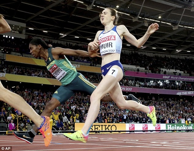 Semenya pipped Britain's Laura Muir to claim bronze in 1500m [www.AmenRadio.net]