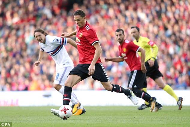 Super Cup - Nemanja Matic of Manchester United Against Sampdoria [www.AmenRadio.net]
