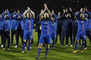 Iceland team mate celebate world cup qualification [www.AmenRadio.net]