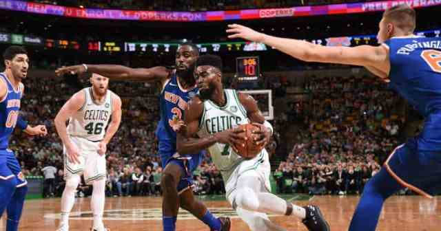 Jaylen Brown in NBA action [www.AmenRadio.net]