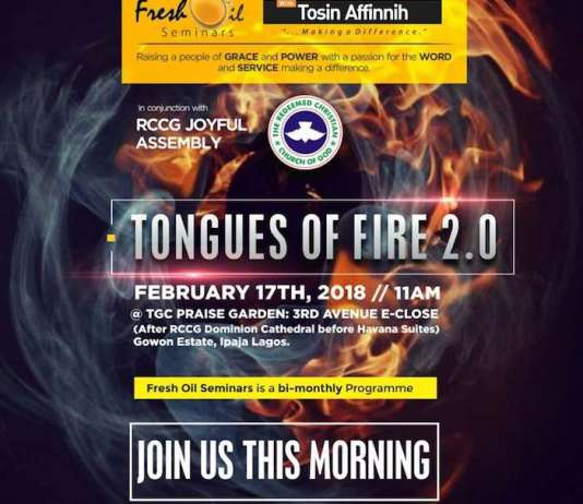 Fresh Oil Seminar: Tongues of Fire 2.0 - Tosin Afinnih [February 2018]