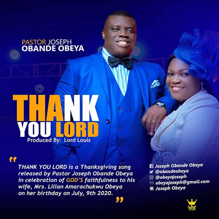 Thank You Lord - Pastor Joseph Obande Obeya