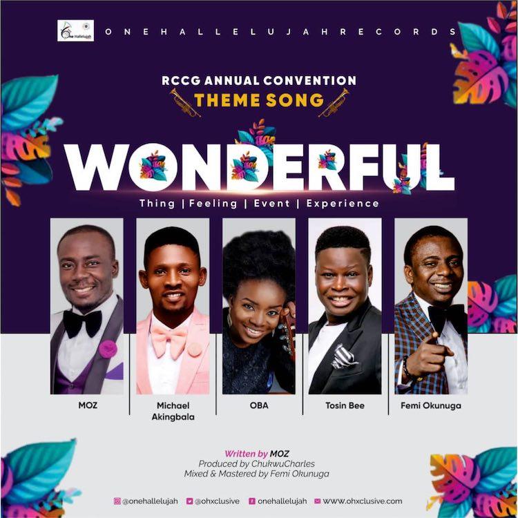 [Music + Lyrics] Wonderful - One Halleluyah Records ft. Moz, Femi Okunuga, Tosin Bee, Oba & Michael Akingbala