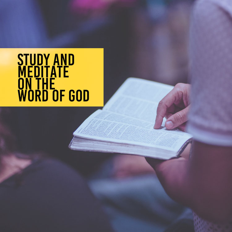 Study And Meditate On The Word Of God