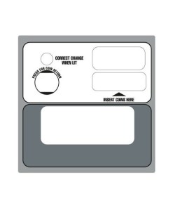 Dixie Narco Coin Bezel Decal Multi Price - Dixie Narco Coin Bezel Decal Multi Price
