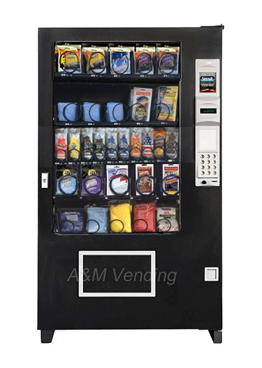 AMS 39 Carwash inside. - AMS 39 Car Wash Vending Machine