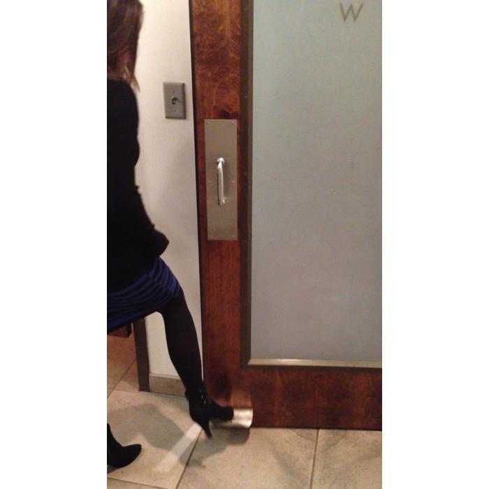 The Doorwave Hands Free Foot Pull Brass Ff