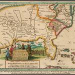 Old World 1657 Map of La Florida