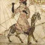 Old World painting of Berber chief ABU BAKR IBN UMAR