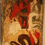 Old World painting of Saint George killing the Dragon