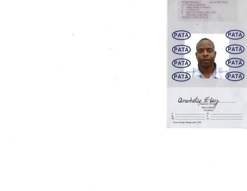 International Driver's Permit - back