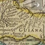 Old world Map of Guiana (Ghana)