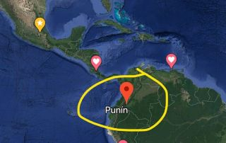 Map of Punt in South America