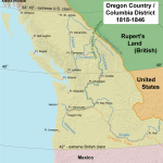 1818 Map of Oregon Country