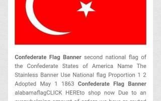 Confederate Flag Banner