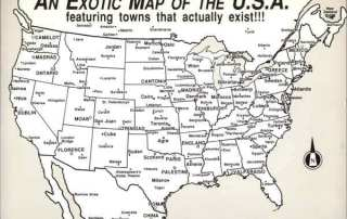 Exotic map of the USA