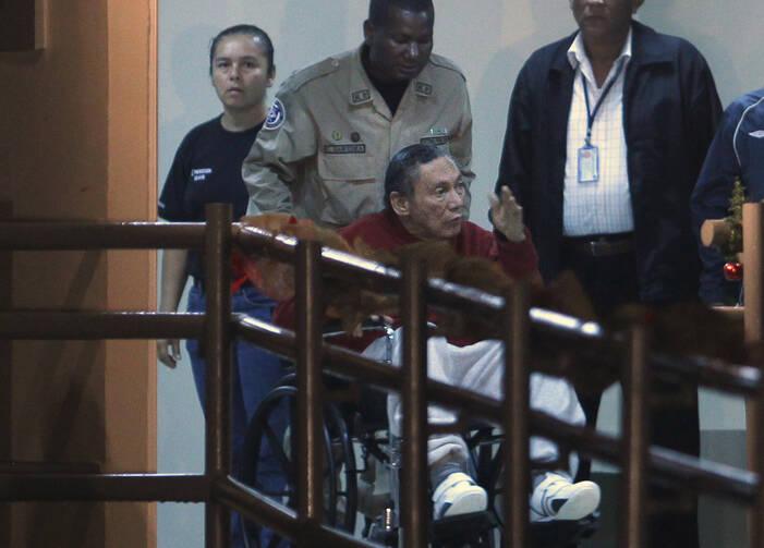 Una foto Diciembre 2011 de Panamá exdictador Manuel Noriega en la prisión El Renacer fuera de la Ciudad de Panamá.  (AP Photo / Esteban Felix, archivo)