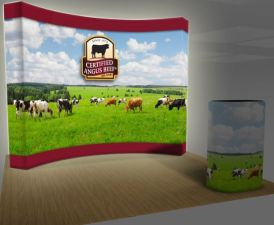 4x3 10ft curved backlit burst pop up display