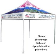 10x10 tent with full print