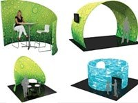 Fabric display stands for Trade Show Rooms and Arches