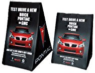 valet360 banner stand for outdoors