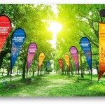 outdoor banners and flags for events