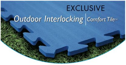 outdoor interlocking comfort tile