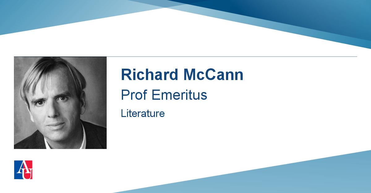 Faculty Profile Richard Mccann American University