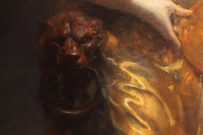 Salome Oil Painting Detail Lion