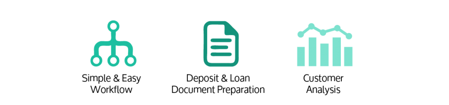 Deposit and Loan Origination Software icons