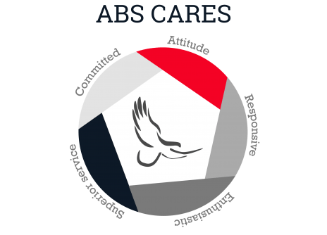 Logo for ABS (American Bank Systems) Cares