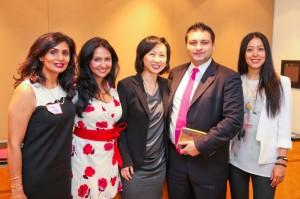 """Making Dollars & Sense"" panelists (from L to R): Sital Patel, Sindhya V. Kalghatgi, Nancy Wong, Abbas Hashmi and Pialy Aditya."