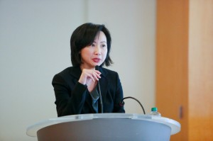 Nancy Wong, Wells Fargo SVP Asian Segment Manager, introduces new platform, www.wellsfargoworks.com, and announces $100 billion lending goal for small businesses by 2018.