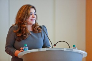 Reema Rasool, SAY WE founder, welcomes women entrepreneurs to her organization's first, full-day conference.