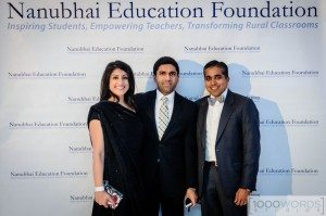 Nita Nehru, Vic Muni and founder of the Nanubhai Education Foundation, Raj Shah. Photo courtesy of 1000 Words Studios Photography.