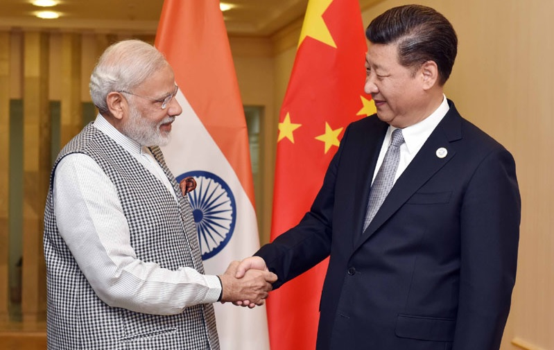 Prime Minister Narendra Modi meeting with President Xi Jinping of China on the sidelines of the Shanghai Cooperation Organisation summit in Tashkent, Uzbekistan, on June 23, 2016. Photo via PIB