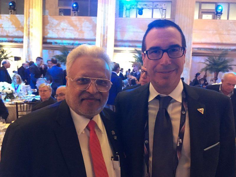 Shalabh Kumar with Steven Mnuchin