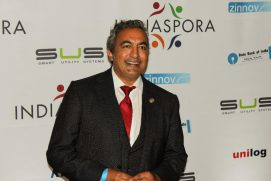 Rep. Ami Bera (D-CA) posing for a photo at the Indiaspora gala held at Marriott Marquis in Washington, DC, on January 3, 2017. Photo credit: The American Bazaar