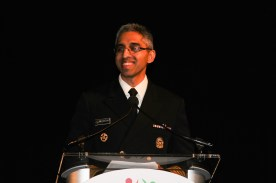 Surgeon General Vivek Murthy speaking at the Indiaspora gala held at Marriott Marquis in Washington, DC, on January 3, 2017. Photo credit: The American Bazaar
