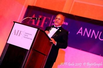 Dr. Amitabh Sharma speaking at the gala.