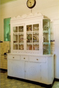 "Vittoria Giunta's traditional Sicilian ""Nanna"" cabinet was built by her eldest son in 1926"