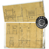 Original Drawings For A Set Of Bedroom Furniture Registered In 1901. Photo Courtesy The National Archives, U.K.