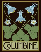 The first print in the series, Columbine, is available only inside American Bungalow Issue 99.