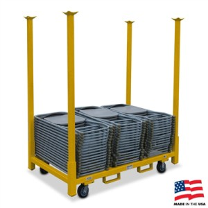 The 66u2033 Table/Chair Storage Cart is the most popular cart from American Cart. It has become a standard for many rental companies and warehousing companies.  sc 1 st  American Cart & Table/Chair Storage Carts - American Cart