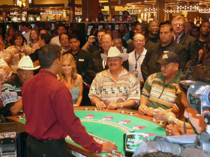 The First Hand of Blackjack ever dealt in Florida