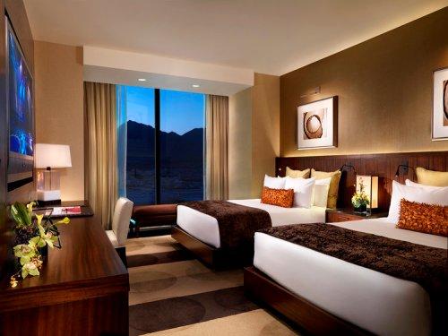 A double queen room at Aliante Hotel + Casino + spa