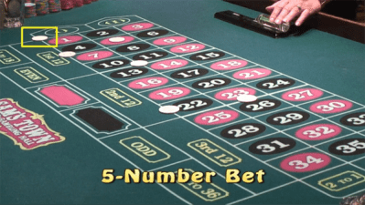 5-number bet in roulette