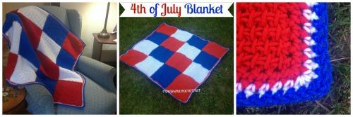 4th of July Blanket | Tunisian Crochet | @americancrochet.com